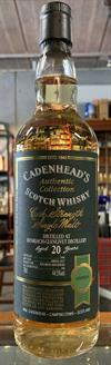 Benriach 1996, 20yo, 44,5%. Cadenheads Authentic Collection