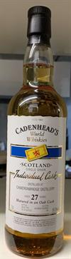 Cameronbridge Single Grain Whisky 27yo, 59,2%. Cadenheads World Whiskies.