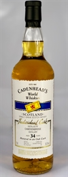 Cameronbridge (Single Grain) 1984, 34yo, 50,3%. Cadenheads World Whiskies