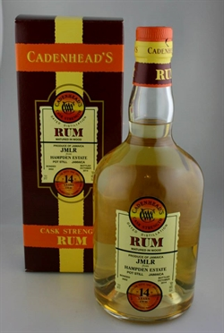 Jamaican Rum, Hampden Estate 2002, 12år, 61,6%. Cadenheads Date Distilled Rum