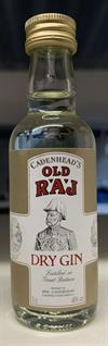 Old Raj Red Gin 46%. Mini Bottle. 5cl.